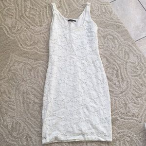 Velvet size small white flora dress